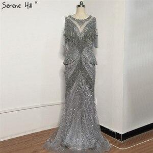 Image 4 - 2020 novo design tassel babados sereia vestidos de noite até o chão vestido de festa de formatura robe de soiree bla70342
