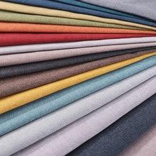 Tessuto di lino tessuti tessili tessuto solido per mobili da divano tessuto da tappezzeria semplice