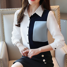 Korean Fashion Women Blouses Shirt Elegant Chiffon OL Plus Size Womens Tops and Blusas Mujer De Moda