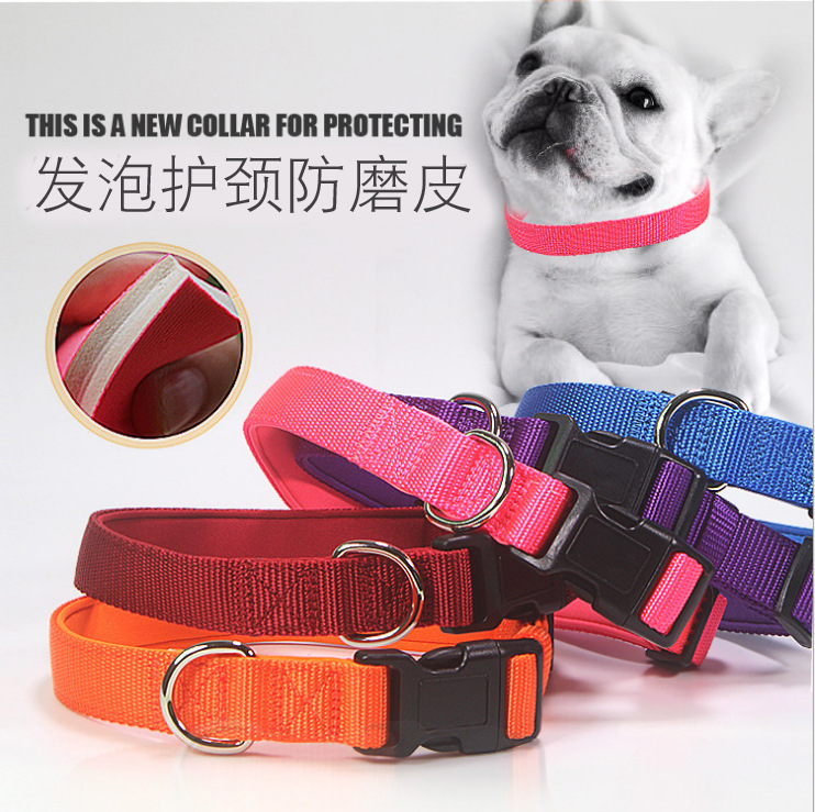 Foaming Comfortable Nylon Dog Neck Ring Collar Bandana Medium Large Dog Collar Pet Supplies