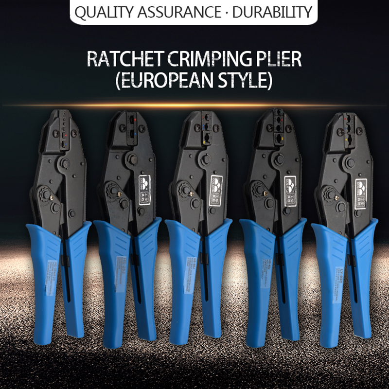 LY-03C/<font><b>HS</b></font>-25J/30J/<font><b>40J</b></font>/06WF2C MINI EUROP STYLE crimping tool crimping plier 0.5-6mm2 multi function tools hands BLUE image