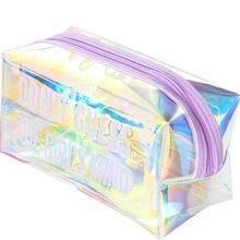 Hot-selling multi-functional laser transparent portable large capacity pen bag stationery