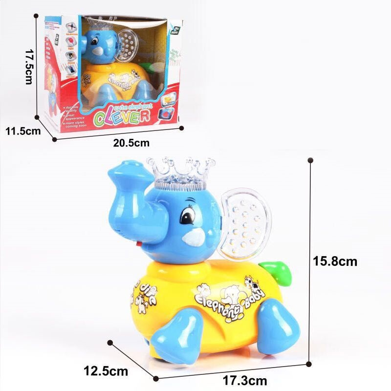 Light And Sound Electric Universal Cartoon Elephant Cute Cartoon Electric Elephant Children'S Educational Electric Toys