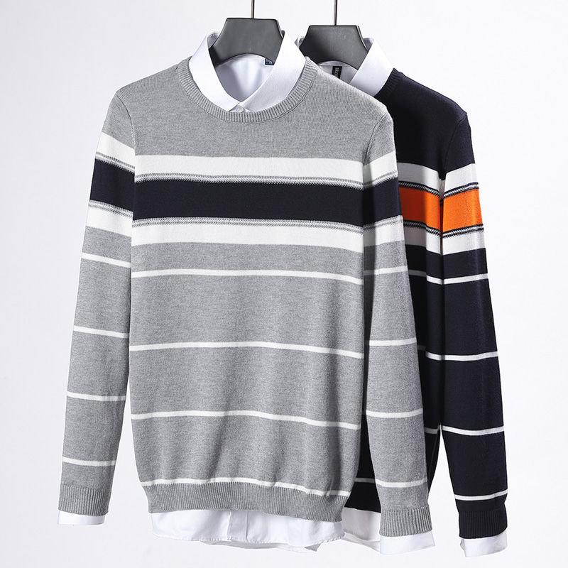 2020 Men's Semi-high Neck Sweater Thickened In Autumn And Winter Knitwear Imitation Mink Warm Bottoming Shirt For Men