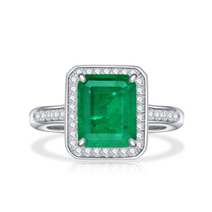 Image 5 - PANSYSEN Vintage Emerald diamond Gemstone Women Rings Top Brand New Wedding Anniversary 925 Sterling Silver Ring Wholesale Gifts