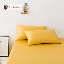 Liv-Esthete Yellow 100% Nature Stranded Mulberry Satin Silk Pillowcase Wholesale Silky Healthy Pillow Case For Women Men Kids