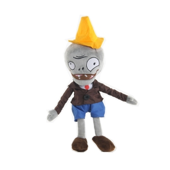 Plant VS Zombies Conehead Hat Plush Doll Kid Toy Gift image