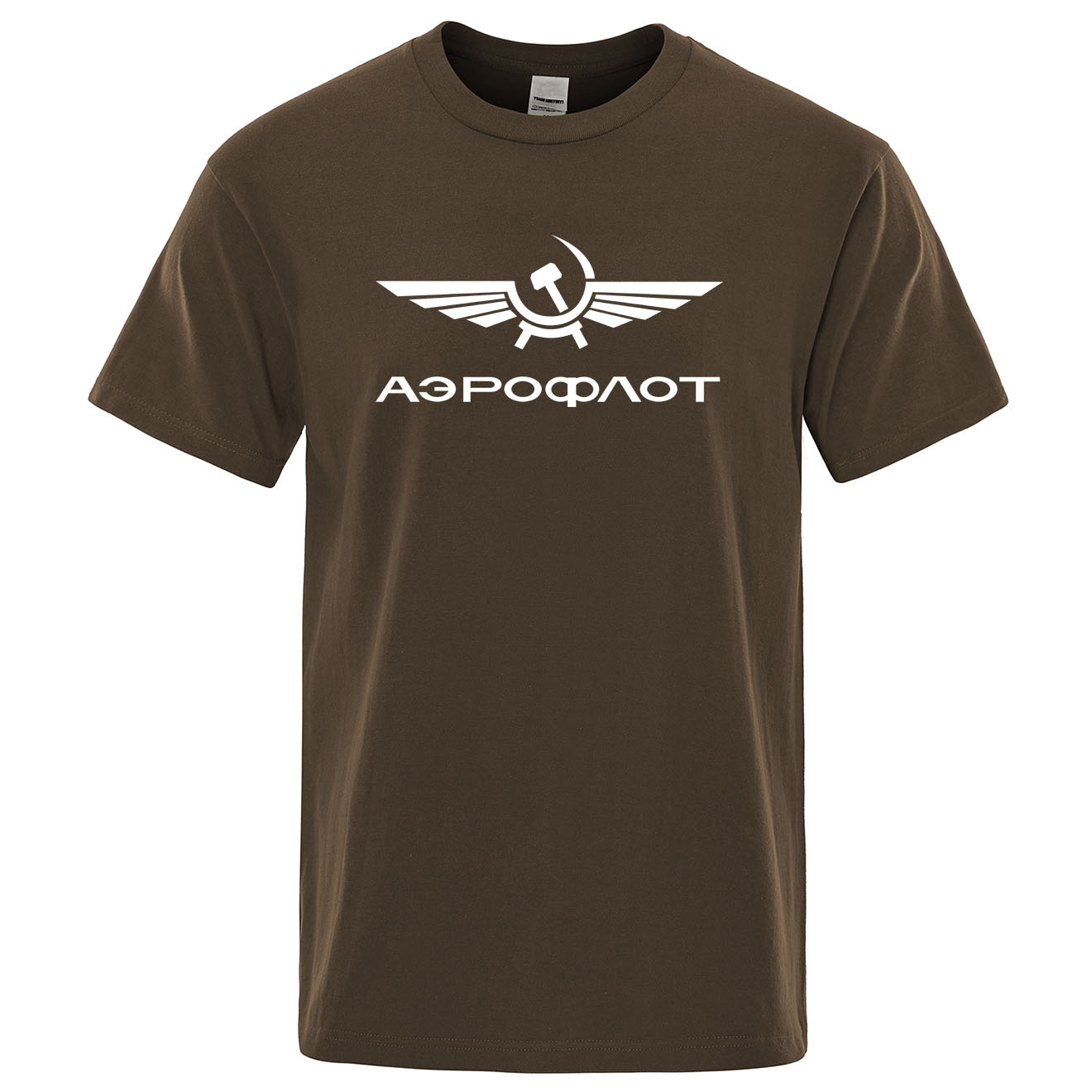 Aeroflot Aviation Russe Pilote Aerospace Aviateur T-Shirt Summer Cotton Short Sleeve Fashion Tops O-Neck Stylish Mens T Shirt