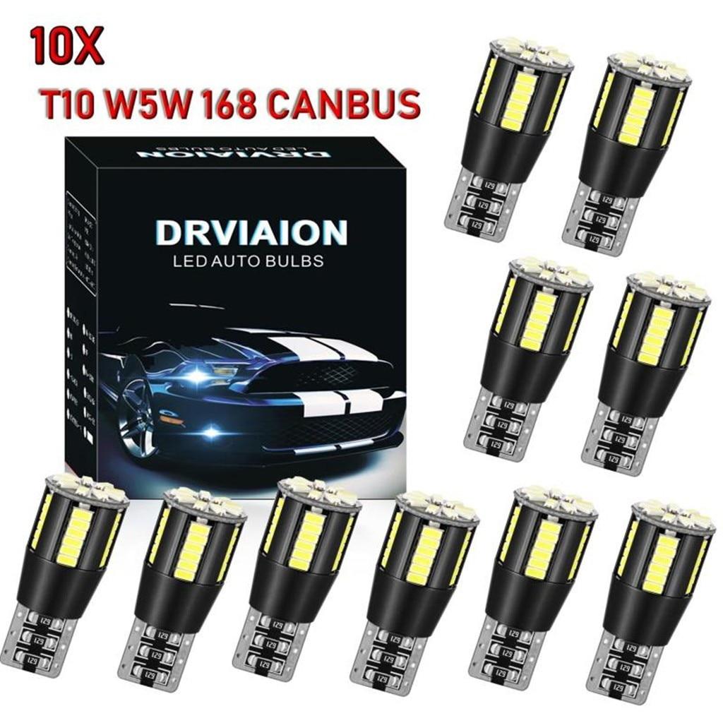 10x T10 CAR BULBS LED ERROR FREE CANBUS 6SMD XENON WHITE W5W 501 SIDE LIGHT BULB