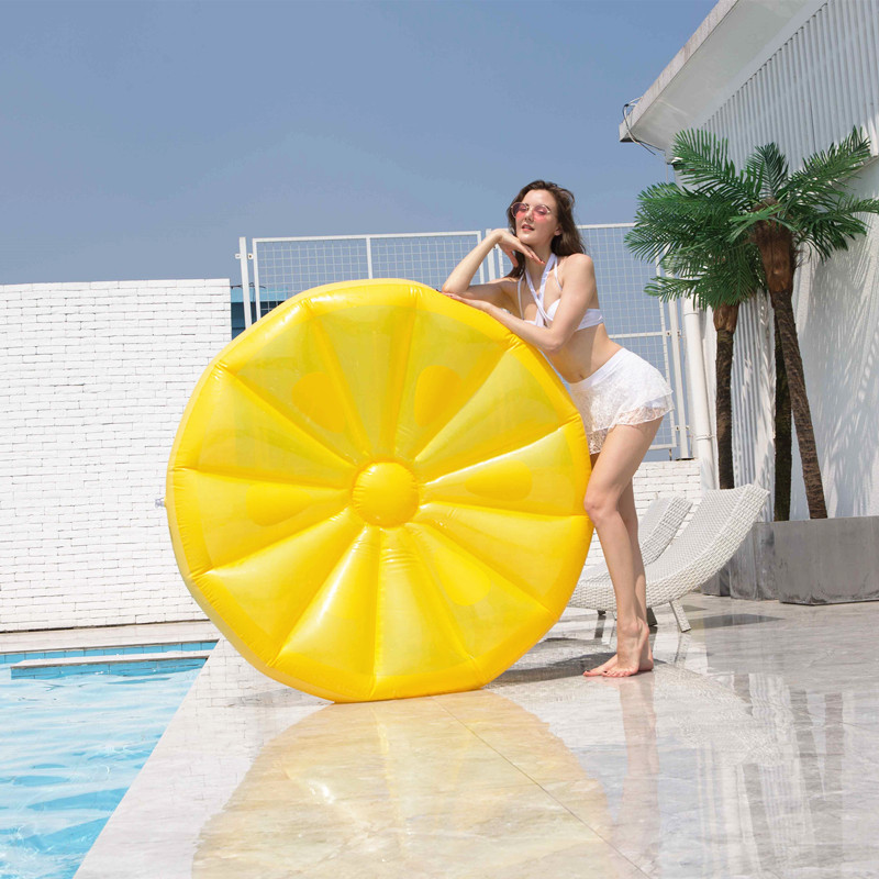 piscina inflavel super grande redonda laranja limao 01