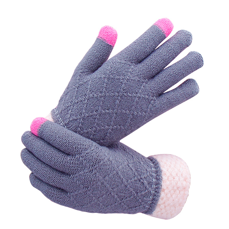 2020 New Winter Touch Screen Gloves Women Men Warm Stretch Knit Mittens Imitation Wool Full Finger Guantes Female Crochet Luvas