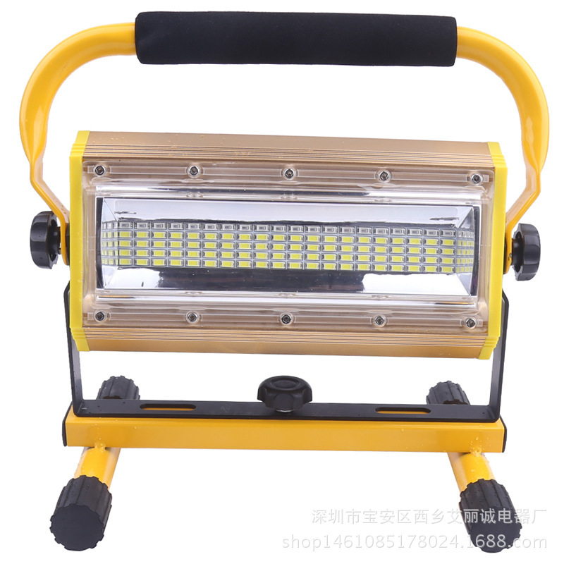 COB Light Source LED Floodlight 1000 Lumens Outdoor Emergency Hand Charging Floodlight Red And Blue Warning Work Light