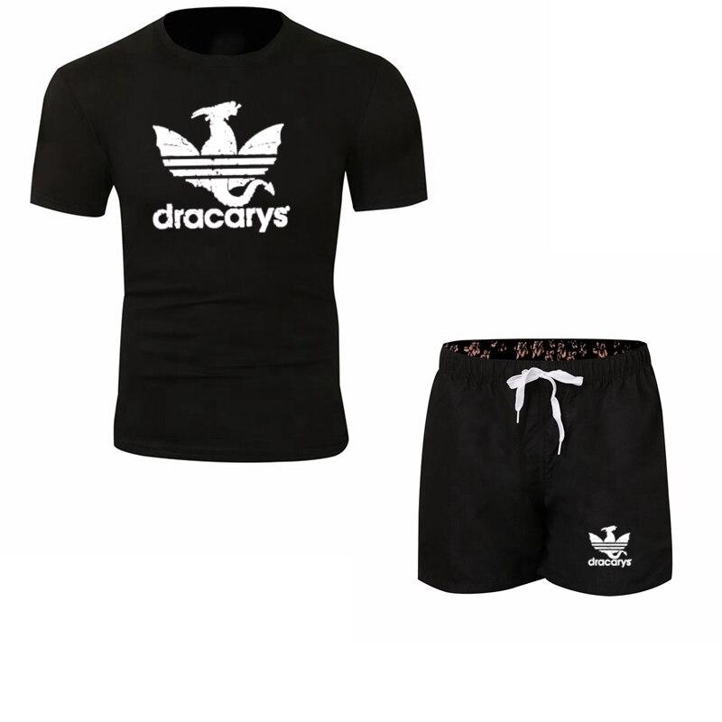 Dracarys Men T Shirt Game Of Thrones Daenerys T-Shirt Mother Of Dragon Khaleesi Harajuku Vintage Camisetas Aesthetic Suit