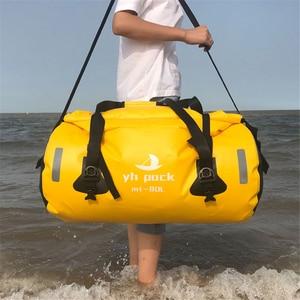 Image 5 - Motorcycle Travel Dry Bag Waterproof duffle Bag 40L/66L/80L /90L/Motorbike Moto Luggage Motorcycle Rear Seat Tail Bag