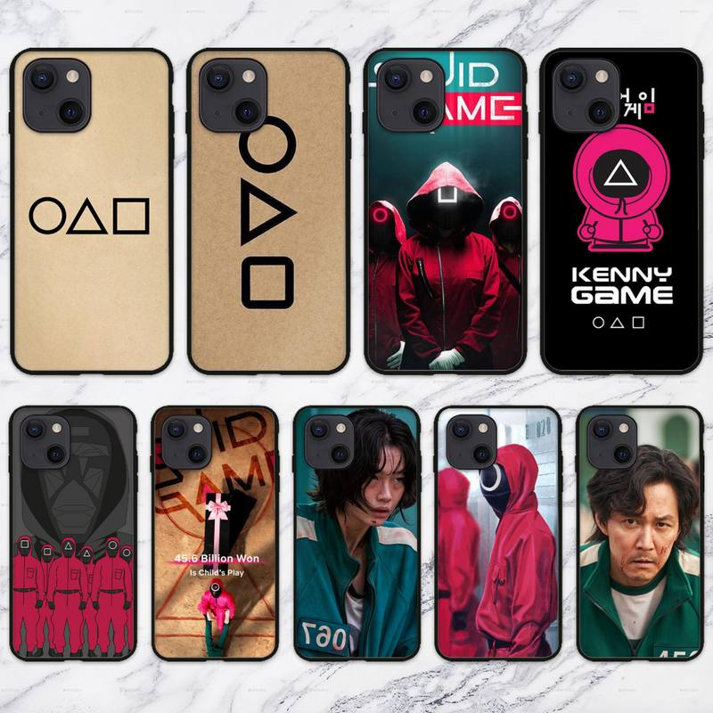 Squid Game Korea Phone Case For iPhone 11 12 Mini 13 Pro XS Max X 8 7 6s Plus 5 SE XR Shell