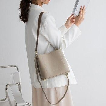 VENOF Casual Genuine Leather Shoulder Bags For Women Fashion Elegant Crossbody Bag Messenger Bag Luxury Brand Women Leather Bag