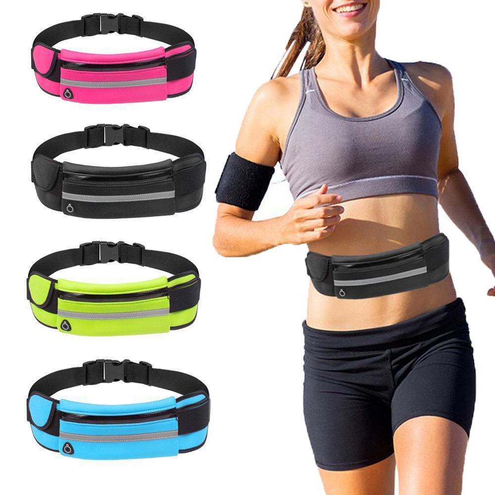 Running Waist Bag Portable Waterproof Hiking Belt Belly Bag Man Women Gym Fitness Bag Lady Sport Accessories  Anti-theft Bag