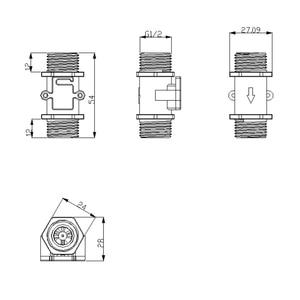 Image 3 - Su akış ölçer debimetre Hall akış sensörü göstergesi sayacı Caudalimetro G1/2 0.5 25L/dak 1.2MPa F = 6 * Q akış sensörü
