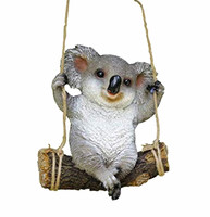 Resin Animal Garden Statue Swing Koala Bear Outdoor Sculpture Ornaments Décor