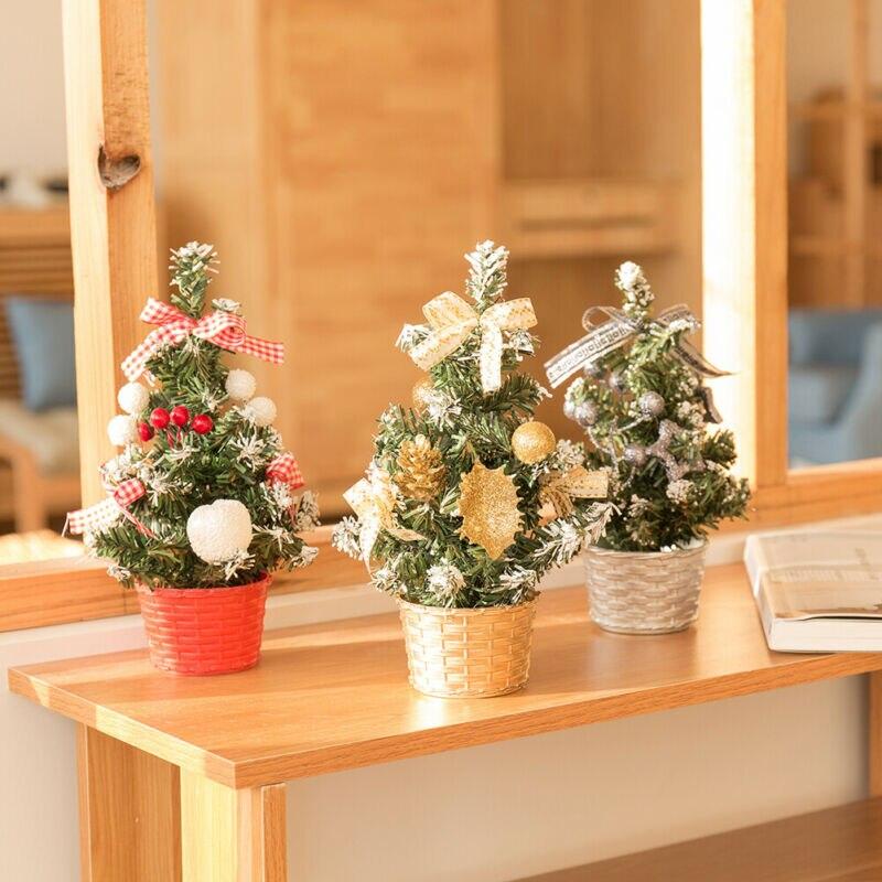 25cm pequeña mesa de Navidad escritorio Artificial Mini árbol de Navidad Decoración Oficina Mandala círculo árboles vinilo calcomanías de pared decoración del hogar Fitness Yoga árbol adhesivo de árbol para pared de la vida Yoga Studio murales de pared AZ044