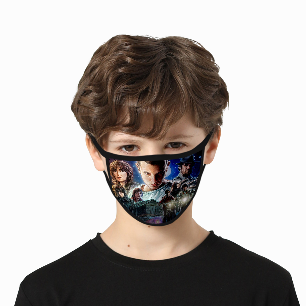 High Quality Stranger Things Mask Washable Mask Stranger Things Face Mask Fashion Hot Harajuku Hip Hop Cosplay Unisex Men Print