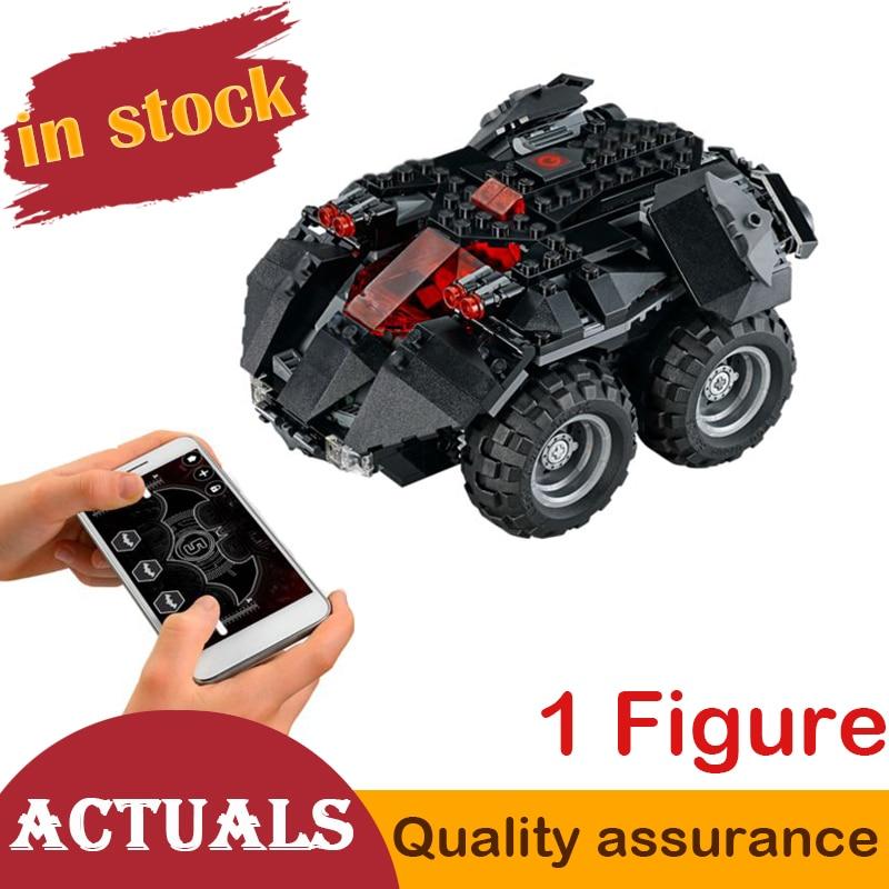 07111 Super Heroe App Controlled Batmobile Batman Car Compatible Lego 76112 Set Building Block Bricks Creative