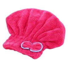 Быстросохнущая шапка для сушки волос, шапочка для купания, супер впитывающая мягкая бархатная шапочка для душа для взрослых женщин, Товары для ванной