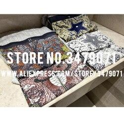Camiseta estampada multicolor de lino + algodón 2020 nueva camiseta de manga corta de alta calidad para mujer camiseta de ocio