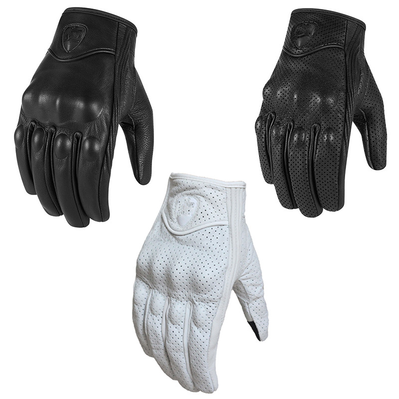 Hot Sales 100% Genuine Leather Motorcycle Short Gloves S1 Racing Team Gloves Driving Motorbike Touch Screen Gloves Size S-XXXL