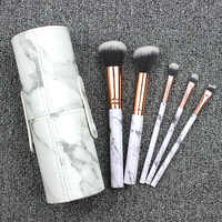 Portable PU Marbling Makeup Brush Organizers Box Travel Cosmetic Beauty Pen Lipstick Holder Bathroom Home Storage Accessories
