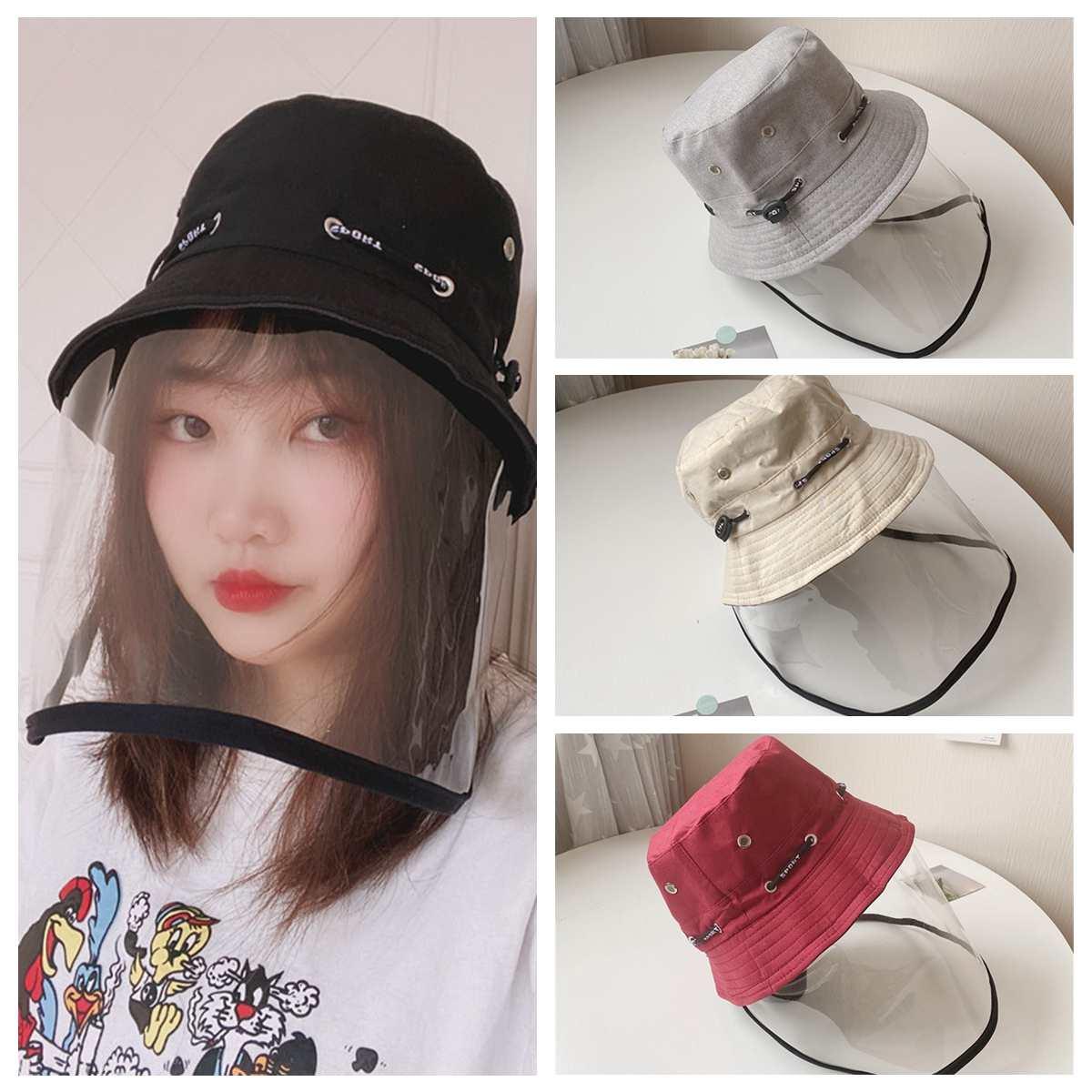 Transparent Anti Virus Protective Mask Anti-spitting Anti-droplet Splash-Proof Hat Fisherman Cap