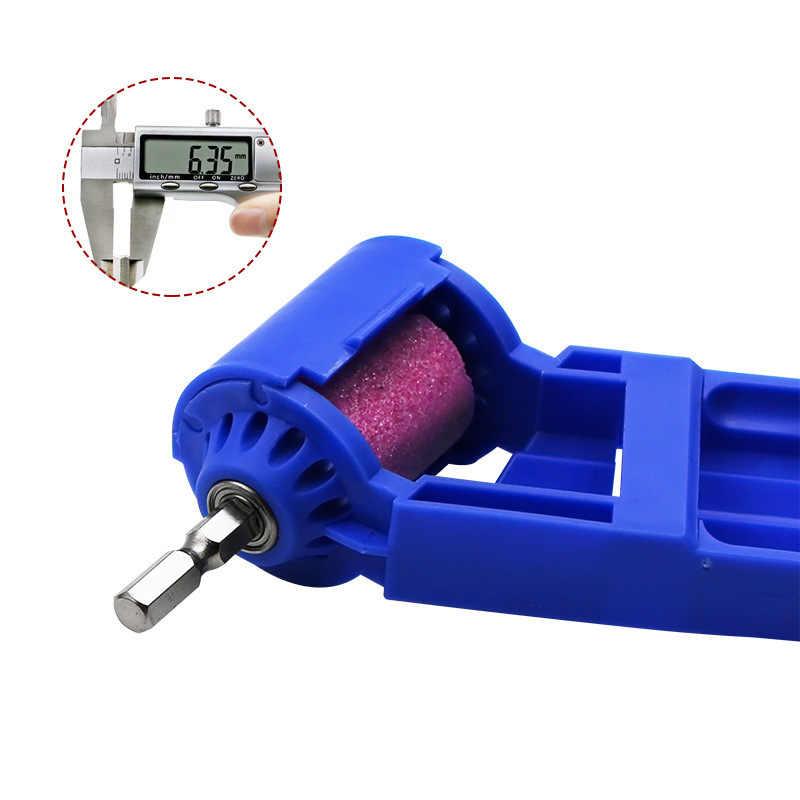 1 juego corindón rueda de molienda afilador de brocas de titanio broca de taladro portátil piezas de herramientas alimentadas de hardware