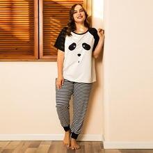 Doib женский пижамный комплект больших размеров с рисунком панды