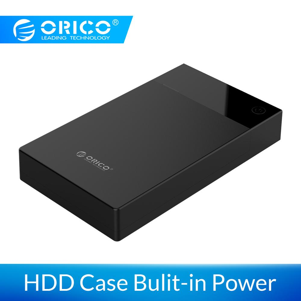 ORICO 3.5 Inch HDD Case Bulit-in Power 12V Portable SATA To USB 3.0 Hard Drive Enclosure Support 16TB HDD UASP For PC TV PS4