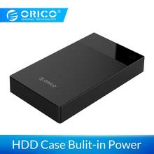 Carcasa de disco duro ORICO 3,5 pulgadas Bulit-in Power 12V portátil SATA a USB 3,0 soporte de disco duro 16TB HDD UASP para PC TV PS4(China)
