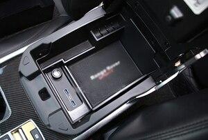Image 4 - Автомобильный органайзер для Land Rover Expression Range Rover Sport 2014 2017, центральный автомобильный подлокотник для хранения, футляр для перчаток, автомобильные аксессуары