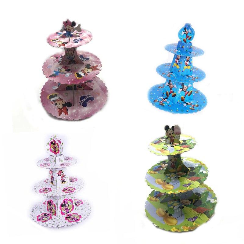 Suministros De Fiesta Cumpleaños Infantil Minnie Mouse Cupcake Soporte 24 Piezas Cupcake Wrappers