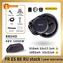 Silnik Bafang BBSHD BBS03 48V 52V 1000W elektryczny silnik z napędem pośrednim Ebike zestawy do konwersji z 52V17.5AH Samsung bateria litowa