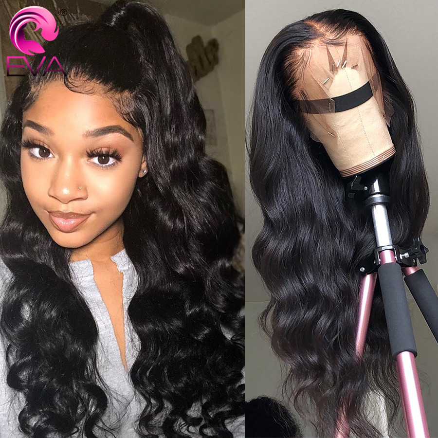 Eva 13x6 Lace Front Human Hair Wigs Body Wave 370 Lace Frontal Wig Pre Plucked With Baby Hair Fake Scalp Wig Brazilian Remy Hair