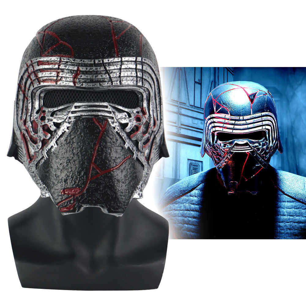 Nova kylo ren capacete cosplay star wars 9 a ascensão de skywalker máscara adereços pvc star wars capacetes máscaras halloween party prop
