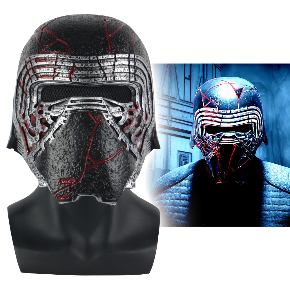 New Kylo Ren Helmet Cosplay Star Wars 9 The Rise Of Skywalker Mask Props PVC Star Wars Helmets Masks Halloween Party Prop