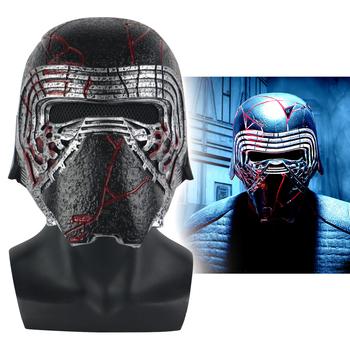 Nowy Kylo Ren kask Cosplay Star Wars 9 wzrost Skywalker maska rekwizyty pcv Star Wars kaski maski impreza z okazji halloween Prop tanie i dobre opinie cosermart Unisex Dla dorosłych Kostiumy