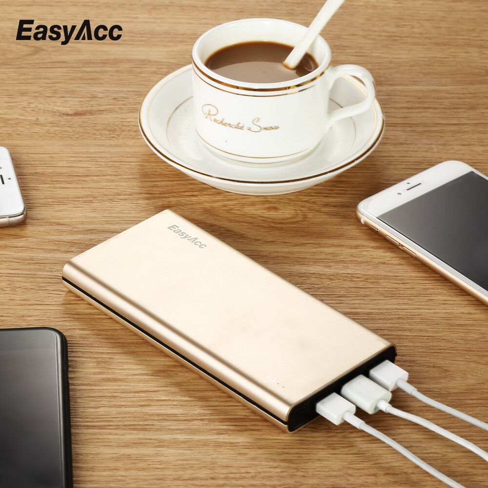 EasyAcc <font><b>15000mAh</b></font> <font><b>Power</b></font> <font><b>Bank</b></font> 4.8A 3 Ports Portable Battery For iPhone Android For iPhone <font><b>Xiaomi</b></font> Mi 9 PoverBank image