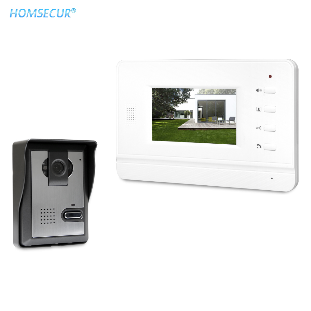 HOMSECUR RU Store Free Shipping 4.3inch Video Door Phone Intercom System With IR Night Vision For Home XC005+XM402