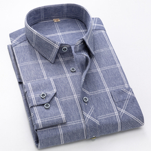 2019 new shirt mens brand casual luxury plaid long sleeve men slim fit Social Masculina  streetwear social dress Men