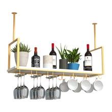 Hanger Goblet-Rack Counter Wine Household Storage Iron-Bar Upside-Down