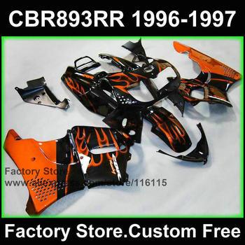 motorcycle fairing for HONDA 1996 1997 CBR900RR 893 CBR 893RR 96 97 fireblade orange flame CBR 893 fairings