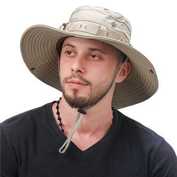 Waterproof Bucket Hat Summer Men Women Boonie Hat Outdoor UV Protection Wide Brim Panama Safari Hunting Hiking Fishing Sun Hat 2