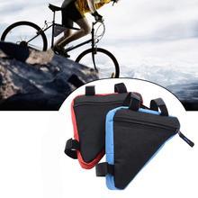 MTB yol bisiklet çantaları ön çerçeve üçgen çanta bisiklet fasulye torbası su geçirmez üçgen kılıfı çerçeve tutucu bisiklet aksesuarları