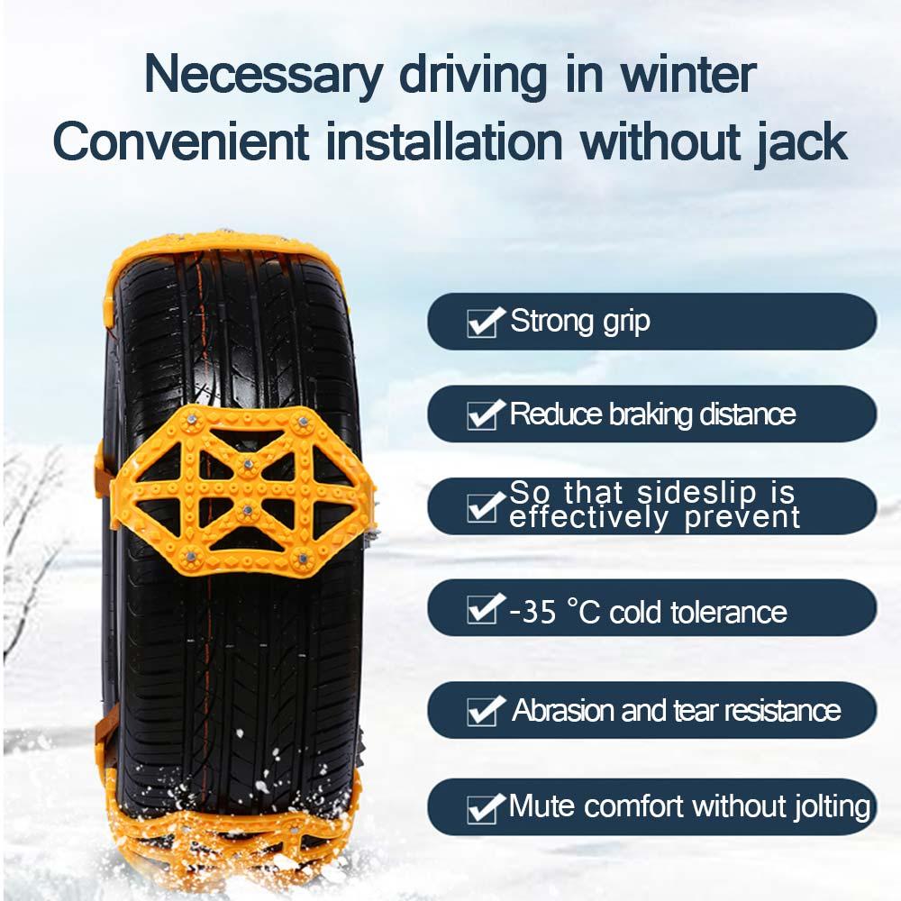 Vehemo TPU chaînes antidérapantes chaîne à neige résistante chaîne antidérapante pour camion hiver antidérapant pour accessoires de voiture